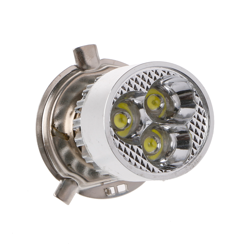 DC <font><b>12</b></font>-<font><b>80V</b></font> H4 3 <font><b>LED</b></font> Motorcycle Headlight Bulb Hi/Lo Scooter Lamp ATV Fog Light image
