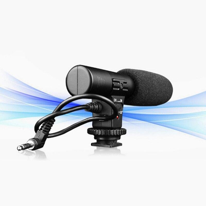 3,5 мм записывающий микрофон, Цифровая видеокамера DV DSLR, студийная стереокамера для Canon, Nikon, Pentax, Фотокамера, микрофон