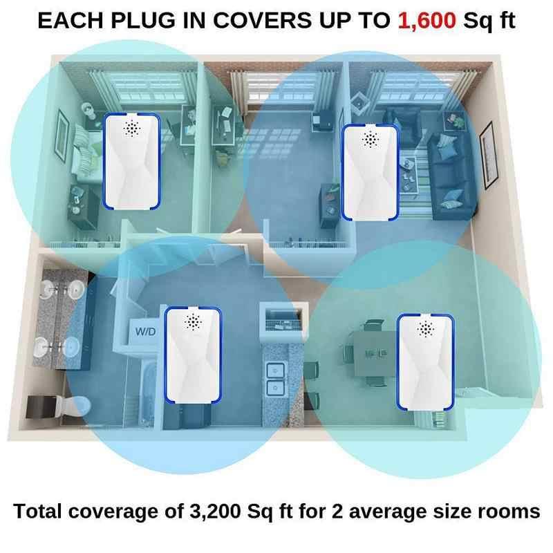 Ultrasonic Hama Repeller (4 Pack) hama Menolak Elektronik Plug-In-Pest Control-Terbaik Penolak untuk Menyingkirkan Tikus, Serangga
