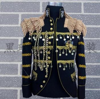 Black men suits designs masculino homme terno stage costumes for singers men sequin blazer dance clothes jacket style dress