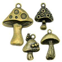 8pcs/lot Antique Bronze Color Mushroom Charm Pendants Jewelry Accessories Mushroom Charms For Jewelry Making(China)
