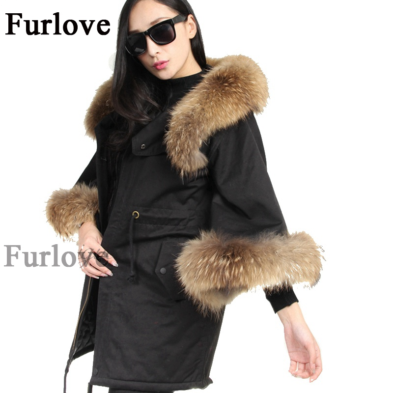 Warm Coats Spring Autumn jacket women Real Raccoon Fur Collar Parka Hooded Jackets Vintage Cloak Style Cotton Lined Parkas Coat high quliaty 6 8 10 12 sus304 stainless steel door bolt security door guard lever action flush latch slide bolt lock k112
