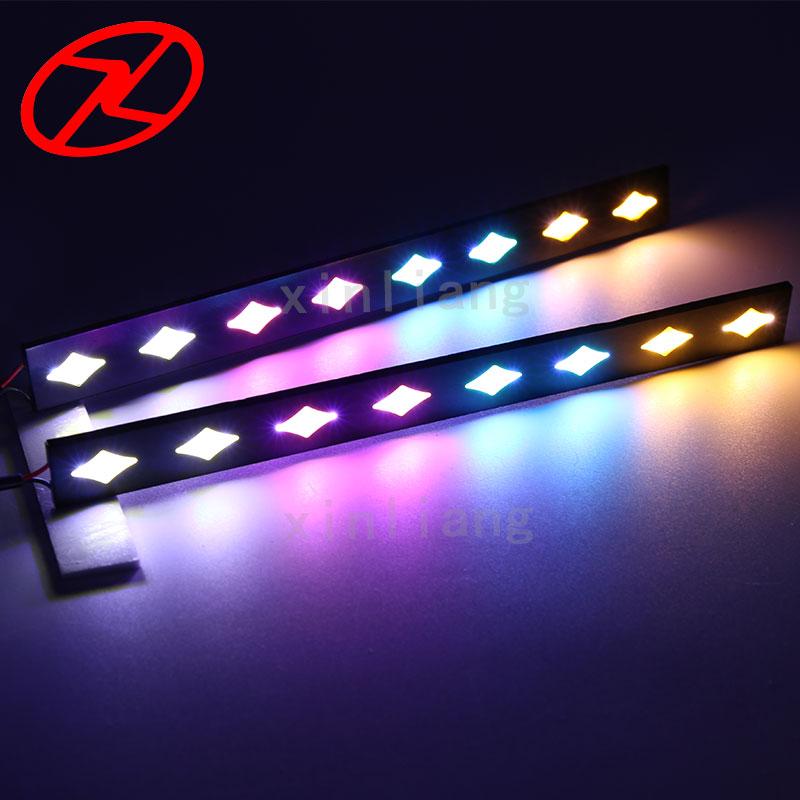 2 db 12v COB ködjelző lámpa Nappali fény LED DRL Nappali - Autó világítás