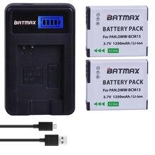 2 قطعة DMW BCM13E DMW BCM13 BCM13 بطارية + شاحن LCD لباناسونيك Lumix ZS40/TZ60 ، ZS45/TZ57 ، ZS50/TZ70 ، ZS27/TZ37 ، TZ41