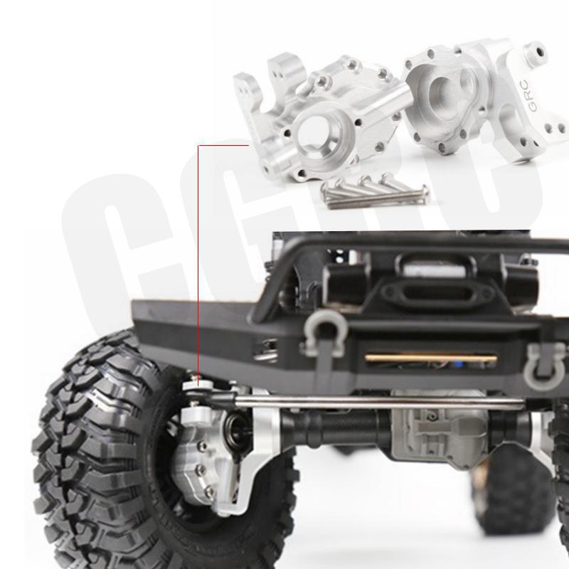 1Pair High Quality 7075 Aluminium Alloy Ackermann Steering Base for 1 10 RC Crawler Car TRX