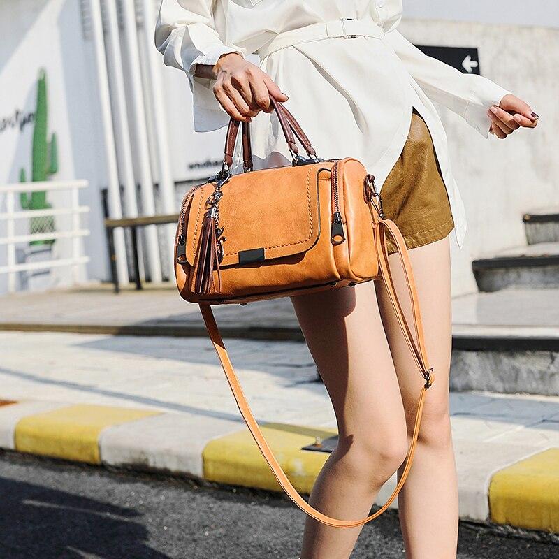 2018 PU sacs à bandoulière petites femmes sacs à main marque de mode Messenger sacs solide couverture sac à bandoulière fourre-tout sac à main - 3