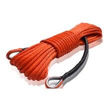 Extensão sintética alaranjada da corda do guincho de 10mm * 26m, cabo do guincho de atv, corda de extensão, corda sintética