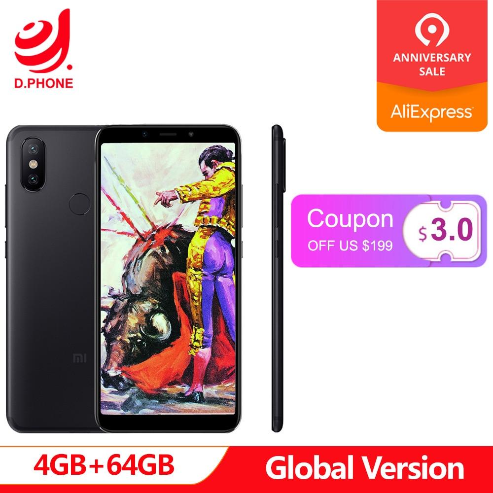 Version mondiale Xiao mi A2 4 GB RAM 64 GB ROM Snapdragon 660 Octa Core 5.99