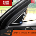 Chrome Car Door Speaker Sound Audio Cover Trim Sticker For Audi Q3 2013 2014 2015 2016  Accessories Car Styling