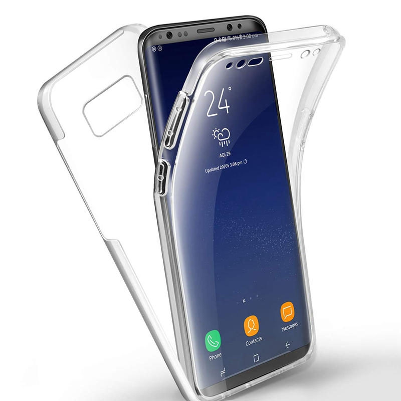 Front+Back Full Body DropProof Clear Case for Samsung Galaxy J8 J6 J4 A6 A8 PLUS 2018 J3 J5 J7 Pro A5 2017 Note 8 9 Note9 Cover 360 degrees