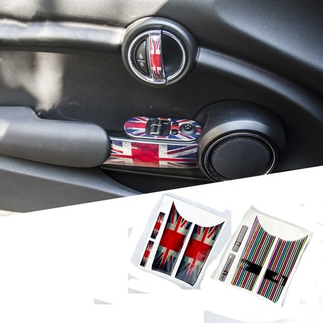 4pcs Set Car Accessories 3d Creative Styling Decal For Mini Cooper S