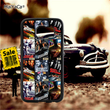 Fast and furious soft TPU edge phone cases for samsung s6 edge plus s7 edge s8 plus s9 plus note5 note8 note9 cover case pop art sad girl soft tpu edge mobile phone cases for samsung s6 edge plus s7 edge s8 plus s9 plus note5 note8 note9 case