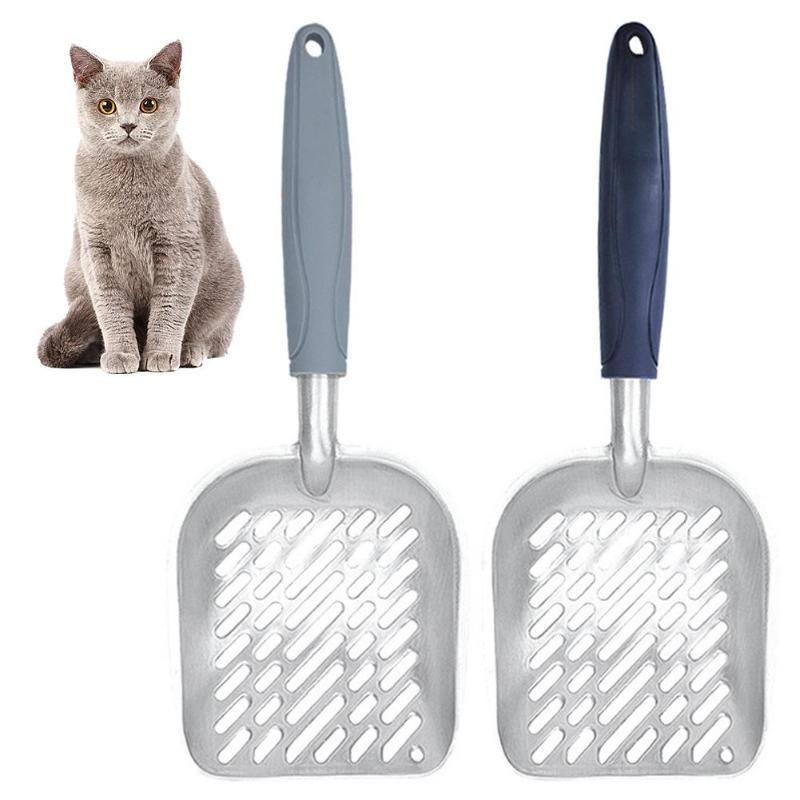 Hollow Cat Litter Scoop Sifter Cat Shovel Holder Pet Poop Scooper Cat Litter Shovel Metal Litter Scoop Clean Tool Pet Care Tools