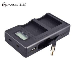 Image 2 - 2 Pcs 1800 mAh LP E12 LP E12 LPE12 Li Ion Batteria + LCD USB Doppio Caricatore per Canon EOS M50 EOS m100 100D Bacio X7 Rebel SL1 Macchina Fotografica
