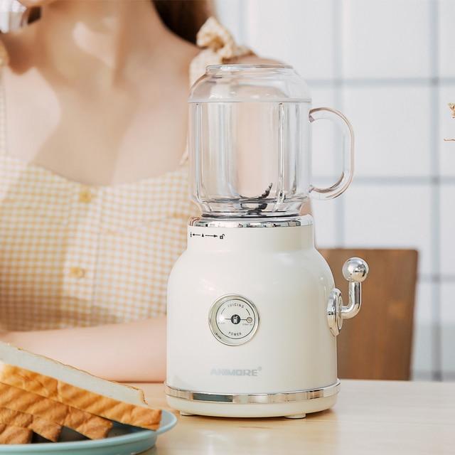 ANIMORE Portable Electric Blender Fruit Baby Food Juicer Milkshake Mixer Meat Grinder Multifunction Retro Juice Maker Machine 3