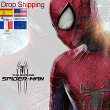 2019 New Spider Man Costumes Myles Parallel Universe Age Hero Suit For Adults Children Kid Spider-Man Cosplay Clothing