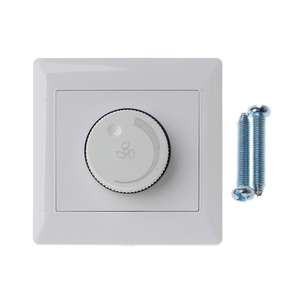 220V 10A Adjustment Ceiling Fan Speed Control Switch Wall Button Dimmer Switch