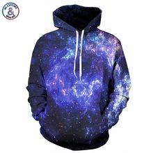 Mr.1991inc raum galaxy hoodies männer/frauen 3d sweatshirts mit hut druck blau nebula herbst winter dünne mit kapuze hoody tops