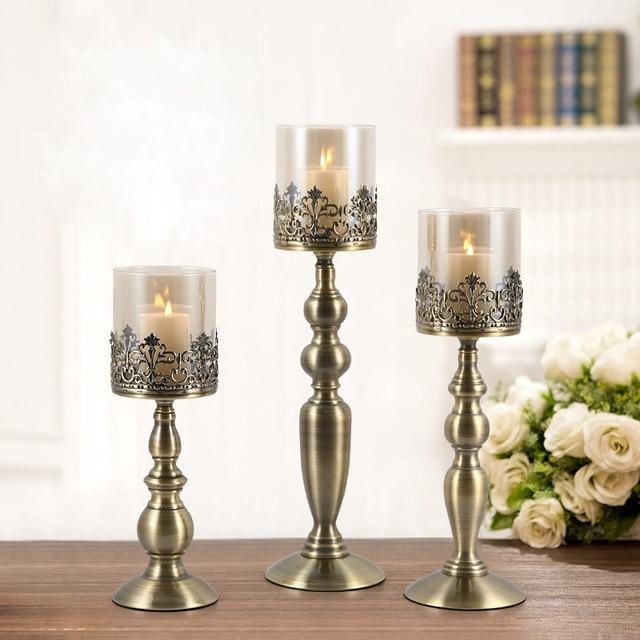 kandelaar Modern Minimalist Romantic Candle Holders Nordic Decoration Candlelight Candelabra For Wedding Hotel Dining Table