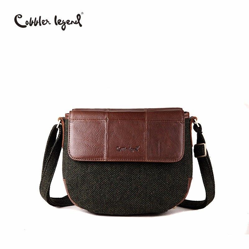 Cobbler Legend Women Genuine Leather Shoulder Bag Vintage Small Bags for Women Crossbody Brand Designer Handbags For Lady shoulder bag