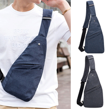 Men Shoulder Bags Fashion Thin Light Male Canvas Anti-theft