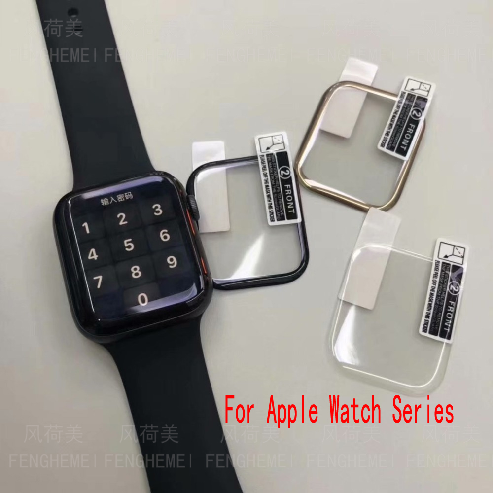 3pcs/lot Full Screen Protector For Apple Watch 42 38 44 40 Mm For Iwatch 4 3 2 1 Series 3D PET Curved Edge (Not Tempered Glass)
