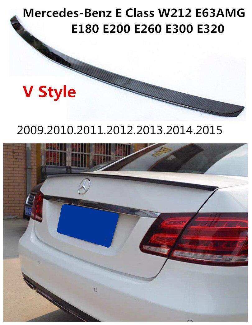 車用カーボンファイバースポイラーメルセデス · ベンツ E クラス W212 E63AMG 2009 2015 高品質スポイラー自動車の付属品 -