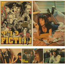 Pulp Fiction Posters Vintage Paper Retro font b anime b font poster poster Vintage Home Wall