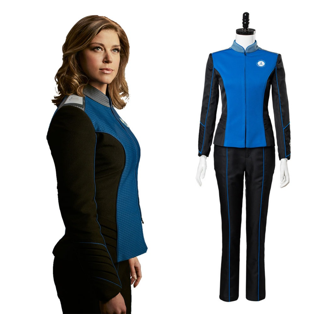 The Orville Cosplay Costume Starfleet Costume Blue Full Sets Uniform Suit Halloween Carnival Adult Costume