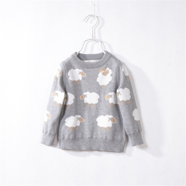 Kids winter sweaters girls Cotton knitted unisex cartoon pullovers Fashion girls cardigan childrens sweaters