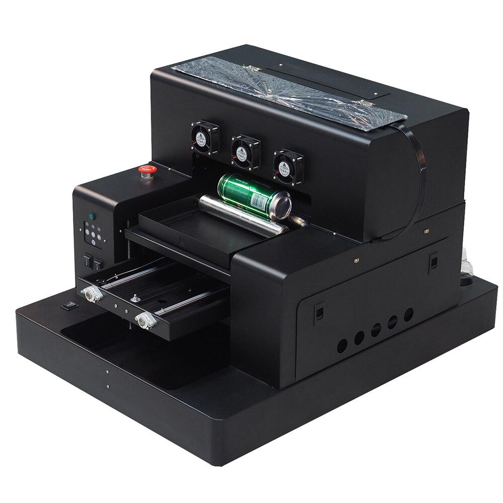 Automatique A3 UV imprimante bouteille imprimante imprimer couleur blanche à la fois coque de téléphone a3 uv imprimante pour machine d'impression de cylindre
