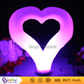 Free delivery Valentine's Day lighting heart shape inflatables for wedding party toy