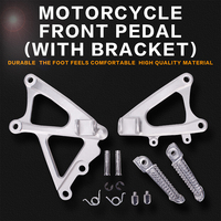 Front Foot Rests Pedal Bracket Assembly Kit For Yamaha YZF1000 R1 2009 2010 2011 YZF R1 09 10 11 Motorcycle Parts