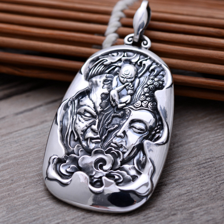 925silver jewelry to restore ancient ways between a read, read the Buddha and the seiko men pendant read and discover 1 eyes ab