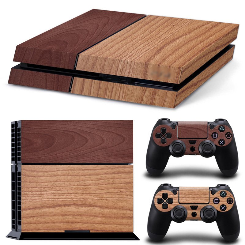 Limited Edition Vinyl Glossy Decal Skin Ps4 Pro Wooden Wood Texture