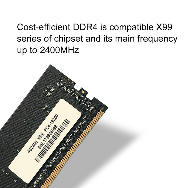 US $54 57 |Vaseky DDR4 Fourth Generation Motherboard 4G Memory Capacity  2400HMz Frequency Desktop Memory Bank Speed Increase-in Internal Solid  State