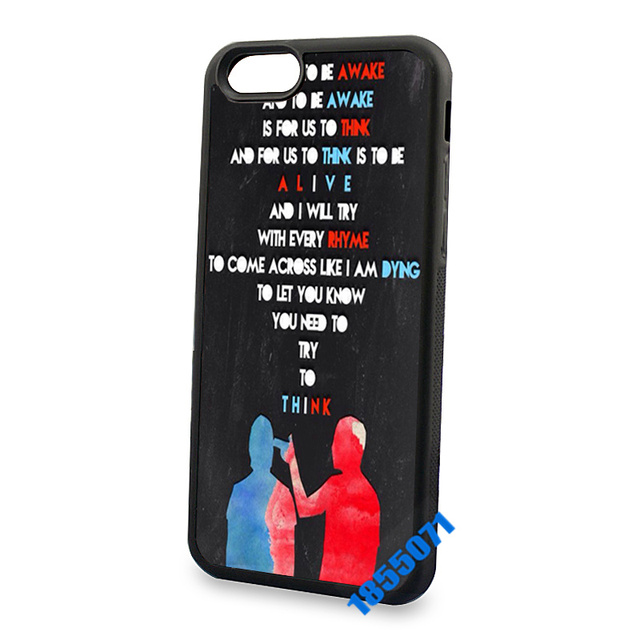 separation shoes ddf55 c3c33 US $5.4 |Twenty one pilots quotes hard skin mobile phone cases for iphone  4s 5s 5c 6 6s 6plus 6splus cool case cover on Aliexpress.com | Alibaba Group