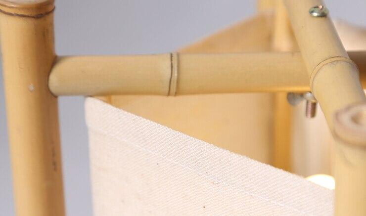 Vintage Design Bambus Fussbodenlampe Japan Stil Bambus Leuchten Nacht