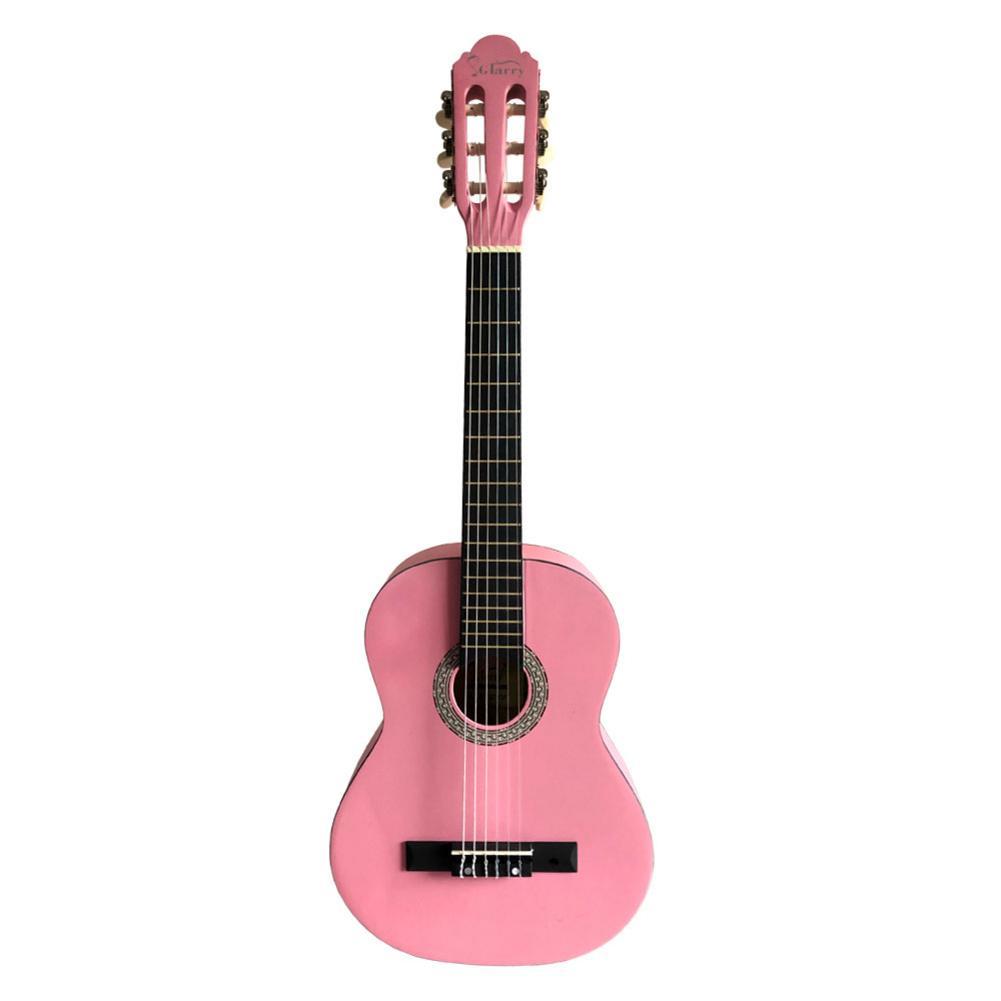Ukulélé 30 pouces Ukelele hawaïen épicéa Top Eucalyptus mat guitare classique rose + sac + pagaie + ficelle - 2