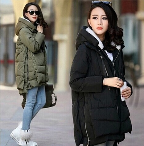 ФОТО 2017 New Arrival Women jacket plus size M-5XL  pregnant woman long Military outfit thick Down Cotton Women Coat Autumn Winter