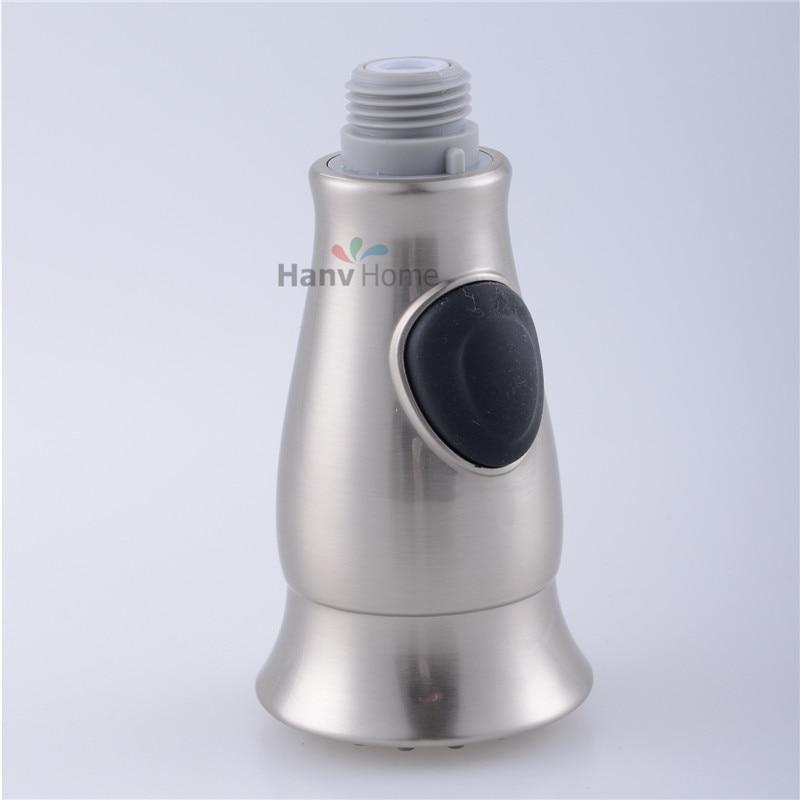 ABS Brushed Nickel Kitchen Faucet Sink Sprayer Pull Out Nozzle Pull Out  Spray Kitchen Faucet Replacement Part 50