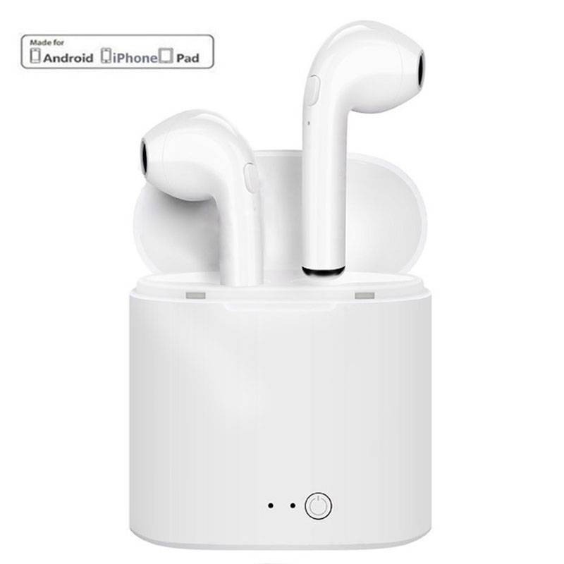New I7S TWS Twins Wireless Stereo Earbuds Bluetooth Earphone Headset With Charging Box For IOS iPhone Android Earpods