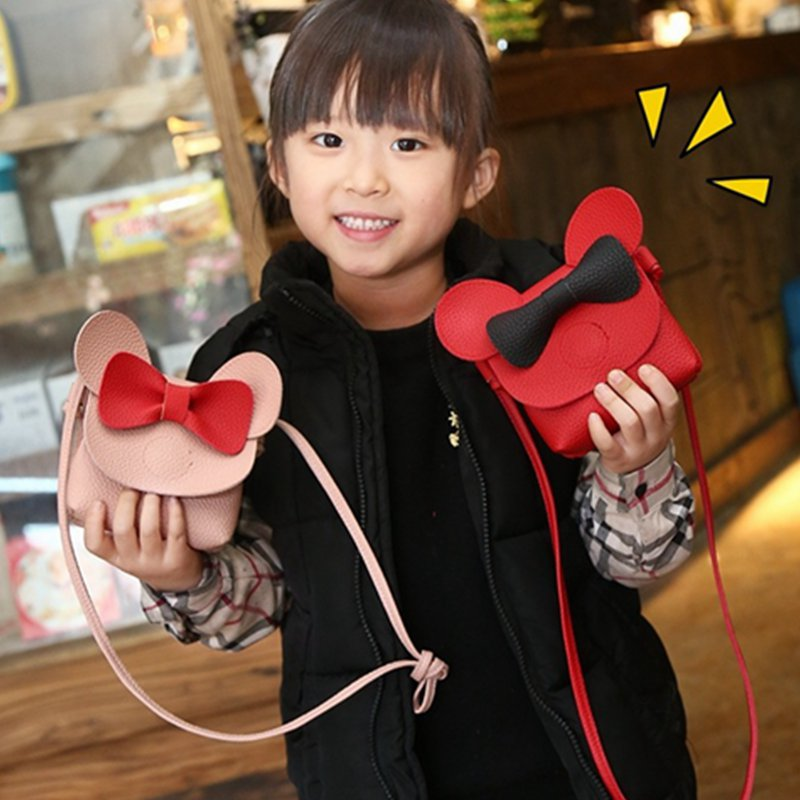 Cartoon Mickey Mini Crossbody Bags For Baby Girls Cute Messenger Handbag Kids Coin Purse Money Bag Little Girl's Prensent CS023