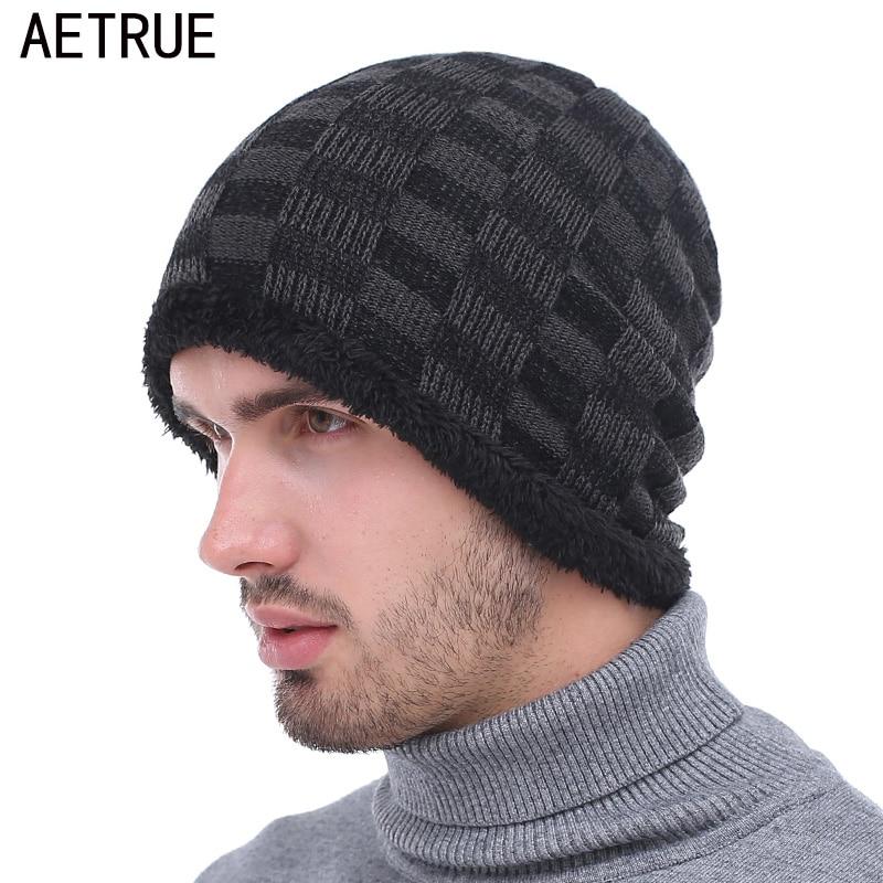AETRUE Winter   Beanie   Hat Men Winter Hats For Men Women Bonnet Caps Warm Baggy Mask Brand Cap   Skullies     Beanies   Mens Knitted Hat