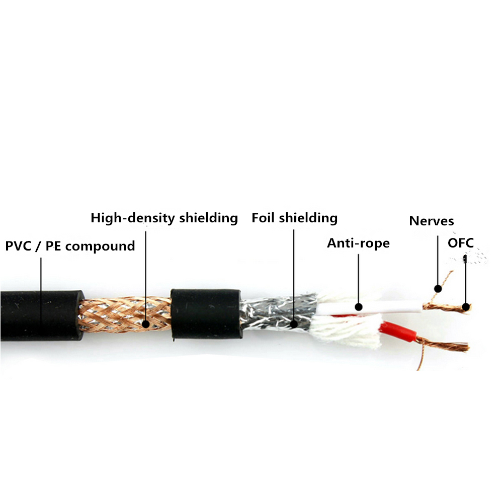 6.35mm Male to XLR Female Balance Audio Cable TRS Stereo OFC Audio Cable For Microphone Mixer DVD HDTV Speakers 1m 2m 3m 5m