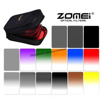 Zomei 100*150mm 16 in 1 Gradual ND2/4/8/16 filters with Filter Case for Camea cokin Z For Nikon Canon Sony DLSR Camera