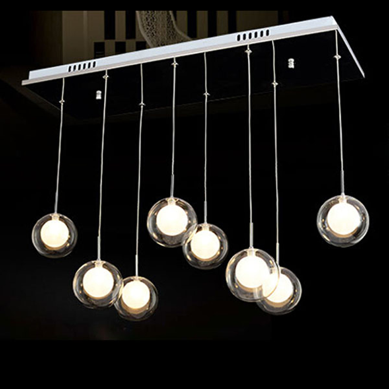 Sago Light Restaurant Fashion Creative Glass Ball Pendant Lights Bar Dining Room Bedroom Lamp Light ZL32 lo10195 a1 master bedroom living room lamp crystal pendant lights dining room lamp european style dual use fashion pendant lamps