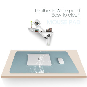 Image 4 - 100X50CM דו צדדי לשימוש משטח עכבר נייד גדול משחקי שטיחי עכבר עמיד למים עור מפוצל שולחן גרנד מחצלת גיימר עבור Dota LOL