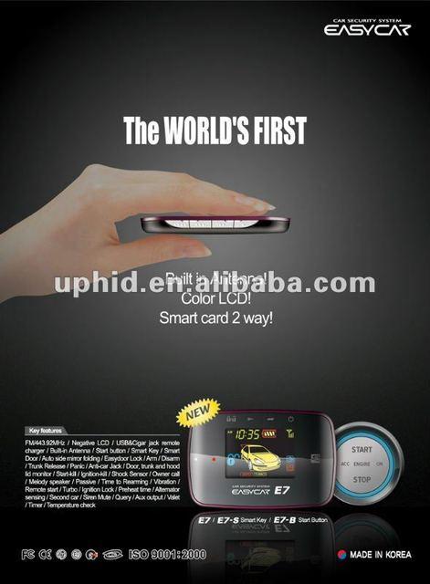 Supernova Sales Easycar E7-B Two way Car alarm with TFT remote, PKE , push start , remote start best price FREE Shipping