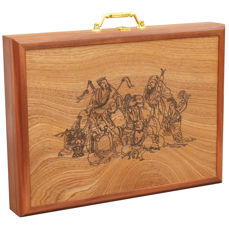 Collection green sandalwood wood carving carving mahjong for Wooden craft supplies online